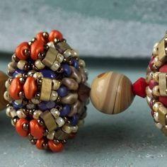 """Surya"" beaded bead   Matubo"