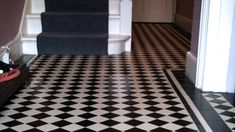 Black and White Tile Floor | ... gallery - Classic 70 Black and White Victorian Floor Tiles