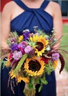 Wild sunflower bouquet