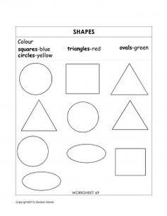 Teaching shapes - worksheet - shapes for kids