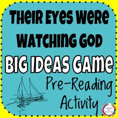 This pre-reading game for Their Eyes Were Watching God by Zora Neale Hurston gets students thinking about plot, characters, and thematic ideas from the novel through this fun anticipatory game. 40 game prompt cards and blank response card template included, as well as directions for game play and possible game variations.