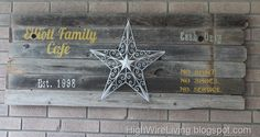 Cute idea... Rustic sign made out of old fence boards. Use it to decorate inside or out on the back porch!