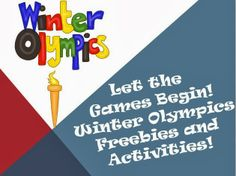 Winter Olympics: Let the Games Begin! Free resources and activities for students!