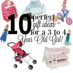 Shopping for girls is so much fun! These 10 Gift Ideas for a Three or Four Year Old Girl will make finishing up that list super easy!
