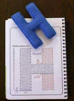Crochet Game, Crochet Diy, Crochet Crafts, Crochet Projects, Crochet Alphabet Letters, Crochet Numbers, Letter Patterns, Knitting Charts, Crafty