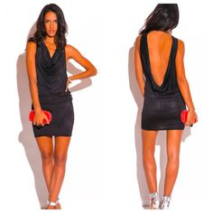 Black back drape bar night dress BRAND new clubwear! Casual but sexy for a fun night out. Thin matte material. Perfect for the summer season! Last size left! REASONABLE OFFERS ACCEPTED! ❤️ NO TRADES! Xo Dresses