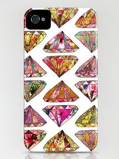 Since #diamonds are a girl's best friend, it's kind of hard to resist this glam-rock, girly #iPhonecase from #Society6. #katyperry #diamondaccessories