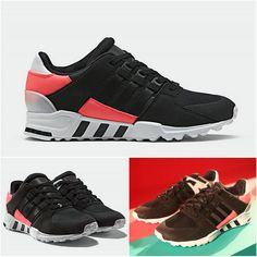 cheaper a1378 2181a Adidas EQT Support 93 Core Black Turbo Red Spring Summer Latest Shoe
