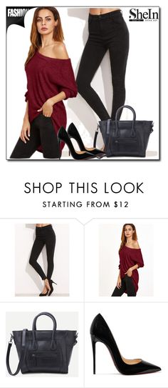 """""""Shein XII-2"""" by azra-90 ❤ liked on Polyvore featuring Christian Louboutin"""
