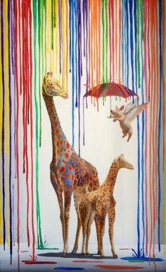 "MOARRR - Fun and playful ""Pop Surrealist"" paintings..."