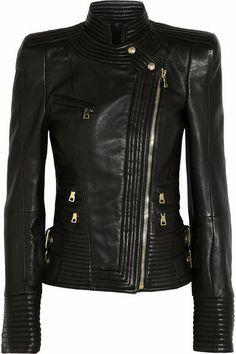 Balmain ~ Leather Biker Jacket