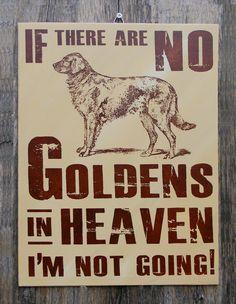 Golden Retriever Wood Sign Hand Screened. $23.00, via Etsy.