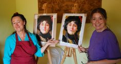 Sara Calcagno and Vicki Sullivan in Tuscany in May 2015. Workshop with the Australian painter Vicki Sullivan, www.saracalcagno.it #saracalcagno #vickisullivan #workshop #workshopintuscany #painting #art #classicpainting #academicpainting #italianpainter