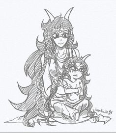Feferi and little Meenah