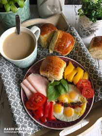 Barbi konyhája: Villám zsemlék reggelire Lunch Recipes, Dinner Recipes, Cooking Recipes, Healthy Recipes, Breakfast Platter, Health Dinner, Food Inspiration, Nutella, Okra