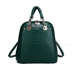 WenHong Women's Girls Pu Leather Crocodile Multi-purpose Preppy Style Candy Color Tote Top Handle Backpack School Bag WenHong http://www.amazon.com/dp/B012OQHL18/ref=cm_sw_r_pi_dp_TTFbwb0HQ0A61