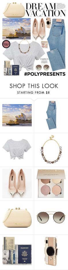 """#PolyPresents: Dream Vacation"" by mimas-style ❤ liked on Polyvore featuring BaubleBar, Louis Vuitton, Love Moschino, Prada, Kate Spade, contestentry and polyPresents"