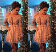 Short prom Dress,Charming Prom Dresses,Long sleeves prom Dress,homecoming…