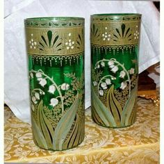Love Lily, Cute Images, Lily Of The Valley, China Porcelain, Pillar Candles, Art Nouveau, Glass Art, Crystals, Antiques