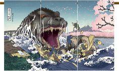 Sakura (cherry blossom) Godzilla!