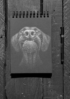 Interested in pet portrait? Starting from £50 for A5.... Pm me, email me (sproodledoodle@gmail.com) ...get in touch...     #illustration # pet #portrait #stippling #art #ink #dotted Admin Work, Stippling Art, Best Portraits, Ink Illustrations, White Ink, How To Take Photos, A5, Black Backgrounds, Design Elements