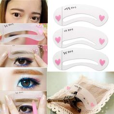 LUCKYFINE 3 Style Women Magic Eye Brow Class Drawing Guide Eyebrow Stencil Template Card ** Continue to the product at the image link. (This is an affiliate link) Eyebrow Makeup, Beauty Makeup, Eyebrow Styles, Eyebrow Stencil, Eyeshadow For Brown Eyes, How To Color Eyebrows, Eyes Lips Face, Natural Brows, Brow Shaping