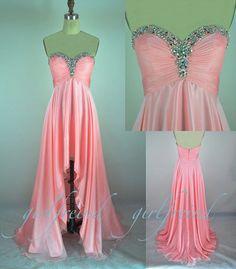 Elegant strapless floor-length chiffon Prom Dresses / Evening Dress #prom #evening #party #dress