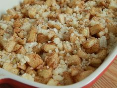 Apple cinnamon crumble bubble up – Drizzle Me Skinny!