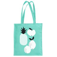 Image of NEW ! Tote bag Fruits - Mint