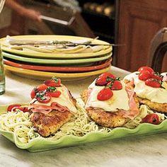 Pan-Fried Chicken-and-Ham Parmesan | MyRecipes.com