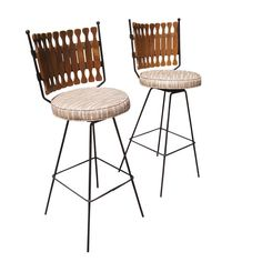 2 Vintage Mid Century Modern Bar Stools Price REDUCED | eBay