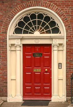I just want a red front door on my future house. Not too much to ask is it? | Only In My Dreams | Pinterest | Doors Georgian and Front doors : georgian door - pezcame.com