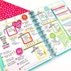 Last Week #afterthepen in my BIG work Happy Planner®️ It's always great to see a well loved planner!