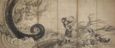曽我蕭白 Shohaku Soga『風仙図屏風』 Museum of Fine Arts, Boston
