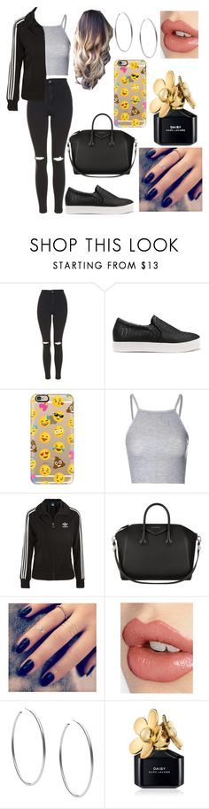 """going to babysit"" by laurajessica ❤ liked on Polyvore featuring Topshop, Casetify, Glamorous, adidas Originals, Givenchy, Lottie, Charlotte Tilbury, Michael Kors and Marc Jacobs"