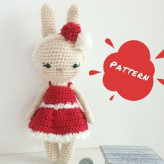 A personal favourite from my Etsy shop https://www.etsy.com/listing/565312008/adele-christmas-bunny-crochet-pattern