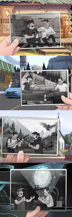 I love when people do this, also gravity falls is awesome at anything. Gravity Falls Funny, Gravity Falls Fan Art, Gravity Falls Comics, Animé Romance, Gavity Falls, Fall Memes, Desenhos Gravity Falls, Dipper And Mabel, Reverse Falls