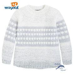 Jersey de niña MAYORAL tricotosa combinado color gris perla