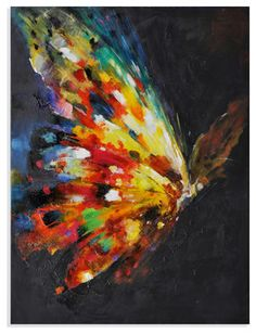 Explore amazing art and photography and share your own visual inspiration! Art Papillon, Art Amour, Butterfly Painting, Butterfly Artwork, Butterfly Canvas, Rainbow Butterfly, Painting Techniques, Love Art, Painting Inspiration