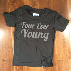 Items Similar To 4 Year Old Birthday Shirt Four Ever Young Silver GLITTER Niece Nephew Son Daughter Gift For Cute