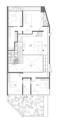 Casa Terraço,Planta - 1º Pavimento