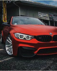 BMW F80 M3 matte red