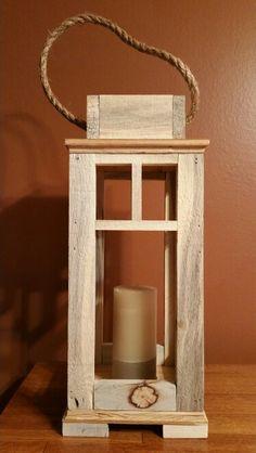 Rustic Pallet Wood Lantern