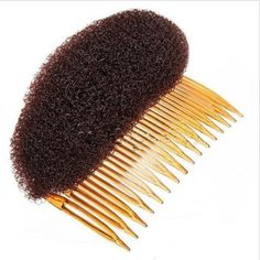 Hair Styler Volume Bouffant Beehive Shaper Bumpits Bump Foam On Clear Comb Xmashair comb (Brown) ** See this great product.