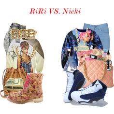 RiRi VS. Nicki, created by timabarry on Polyvore