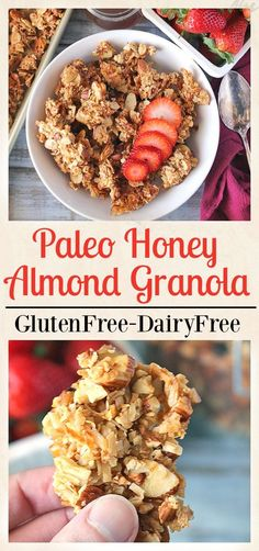 Paleo Honey Almond Granola