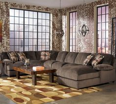 Sectionals Truscotti Cafe Ultra Plush 4 Pc Oversized Sectional : plush sectionals - Sectionals, Sofas & Couches