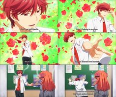 Mikoshiba from gekkan shoujo nozaki-kun. This guy says embarrassing (cheesy) things and gets embarrassed himself!! <3 too cute. (SYL)