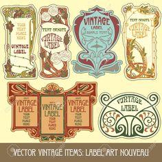 Art nouveau labels