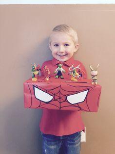 Spider Man Valentine Shoe Box My DIY Pinterest